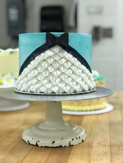 Blue dress Cake