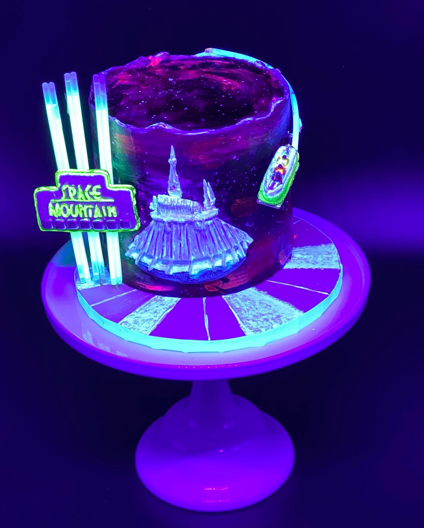 Glow in the dark Space mountain Cake