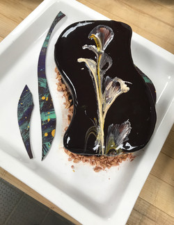 Glazed Cake with abstract art