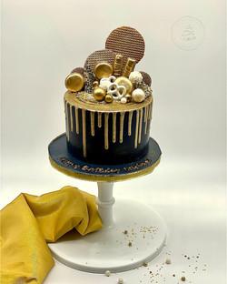 Gold Navy cake