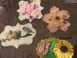 custom floral cookies