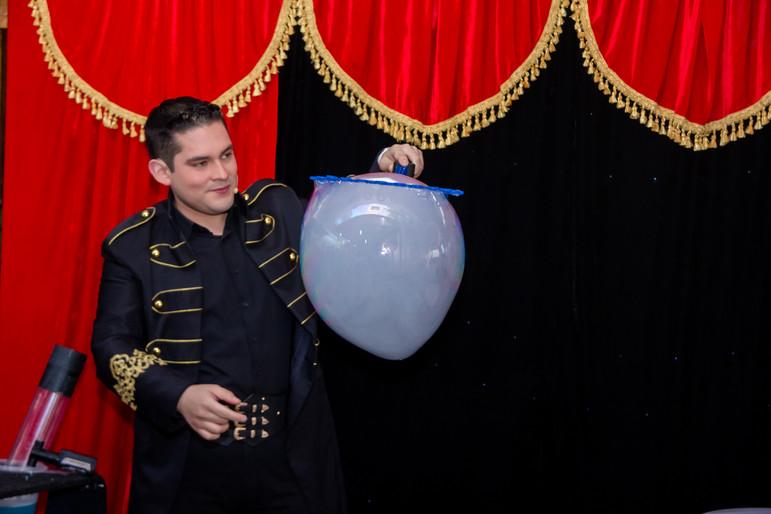 Burbujas con humo