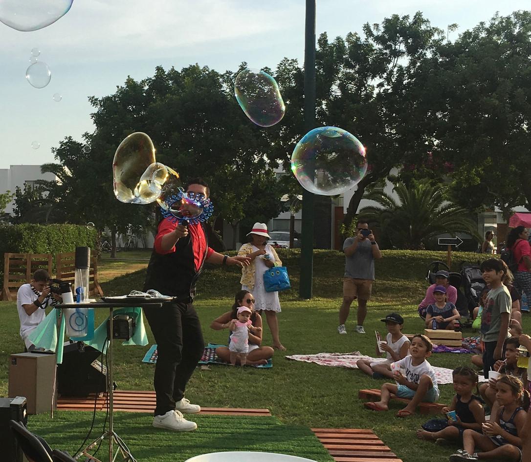 Burbujas en exteriores