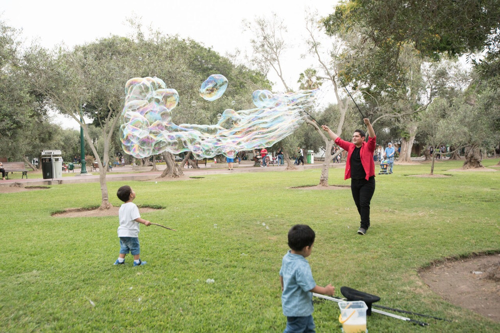 Multi burbujas gigantes