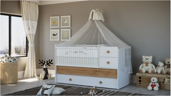 Baby Cute Convertible Baby Bed