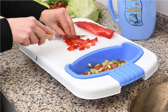 Chopping Board Set With Strainer