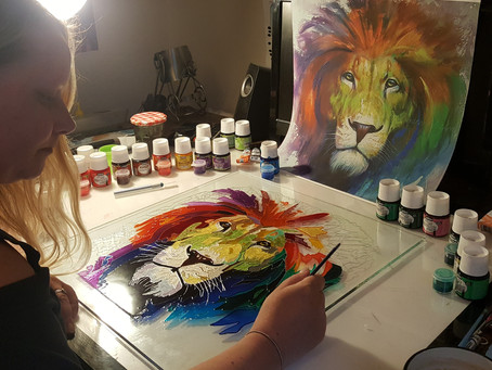 Why painting on glass?