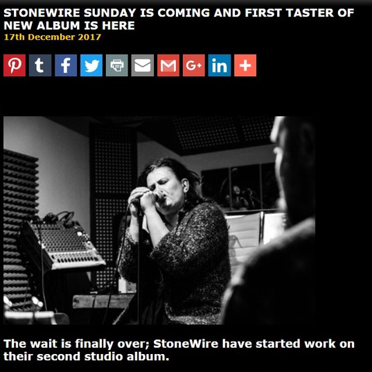 StoneWire announce Album release and introduce StoneWire Sunday
