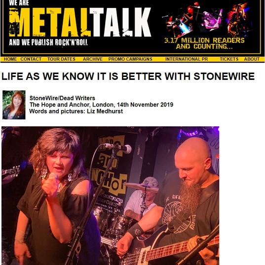 LIFE AS WE KNOW IT IS BETTER WITH STONEWIRE 9.5/10