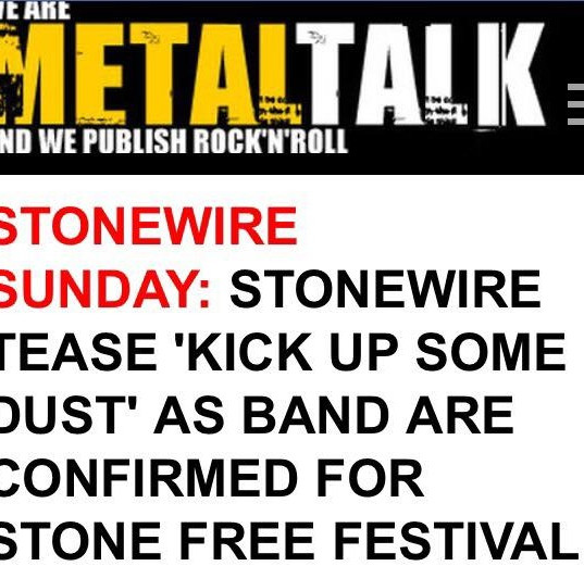 "StoneWire Sunday Interview - Introducing: ""Kick Up Some Dust"""
