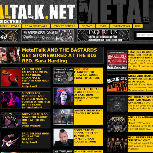 MetalTalk review our gig at The Big Red