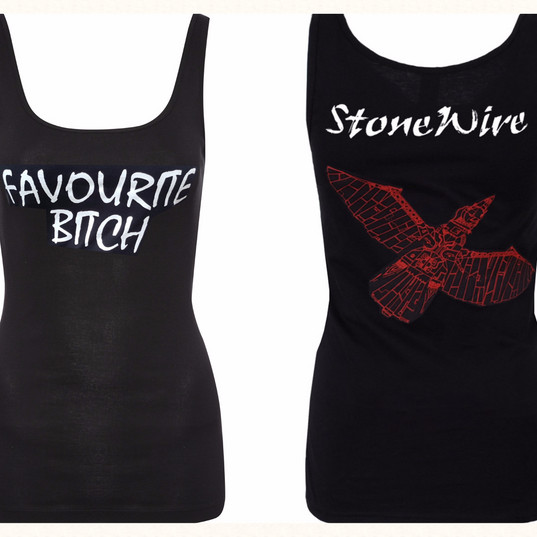 """Brand New """"Favourite Bitch"""" ladies vests now available!"""
