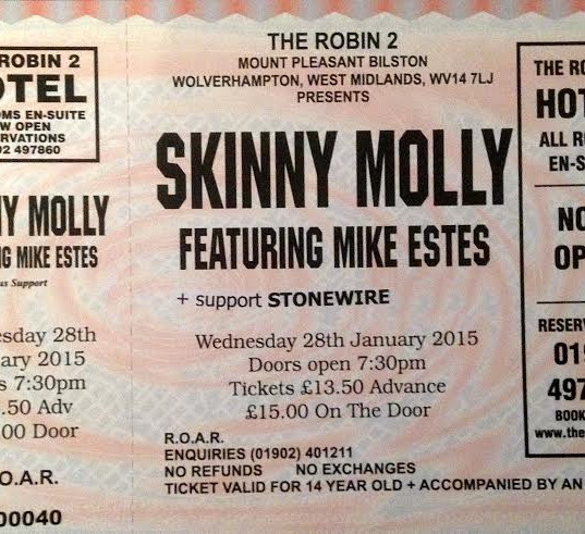 StoneWire to support Skinny Molly at the Robin 2