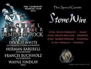 StoneWire to support Michael Schenker on tour in Sweden!