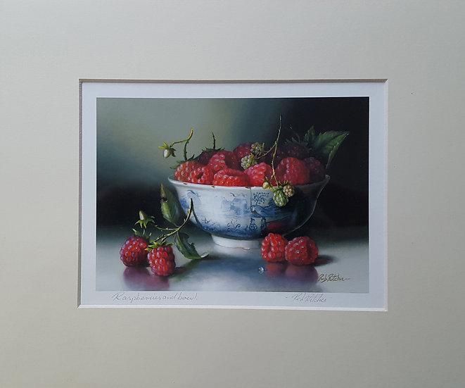 Raspberries & Bowl