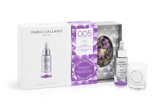 Maria Galland Ultim' Boost 005 Hydratation Coffret mit Tee & Kerze