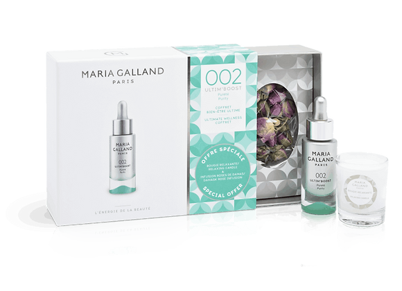 Maria Galland Ultim' Boost 002 Hydratation Coffret mit Tee &Kerze