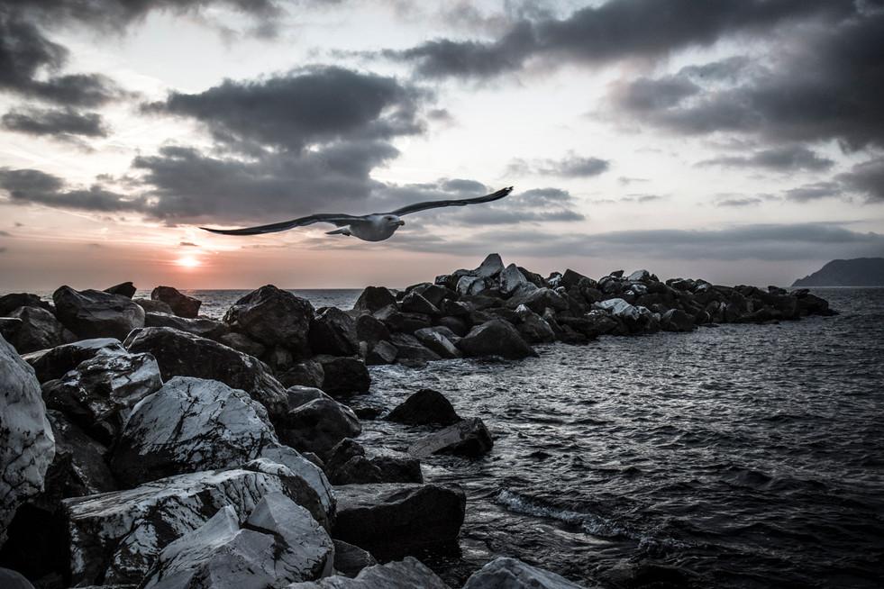 Wellenbrecher von Riomaggiore