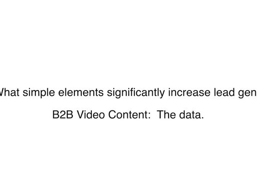 Do B2B prospects respond to video and if so, what gets the best response?