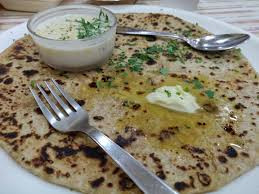 Moringa Parathas  with Peanut Cucumber Dip- A healthy delicacy