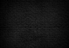 Abstract Black brick wall texture for pa
