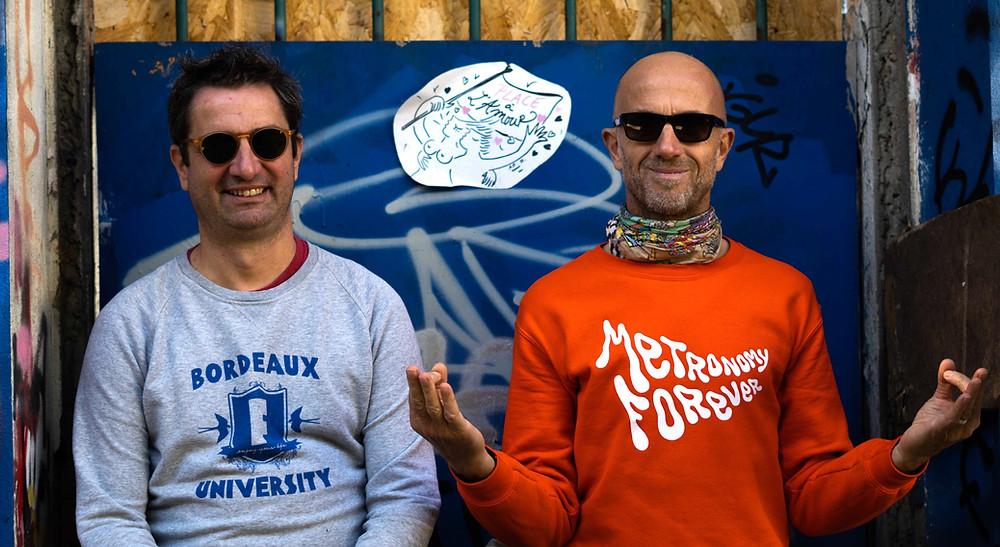 Guillaume Fédou (à gauche) fondateur et Fabien Cleenewerk, planneur stratégique de Bordophonia.