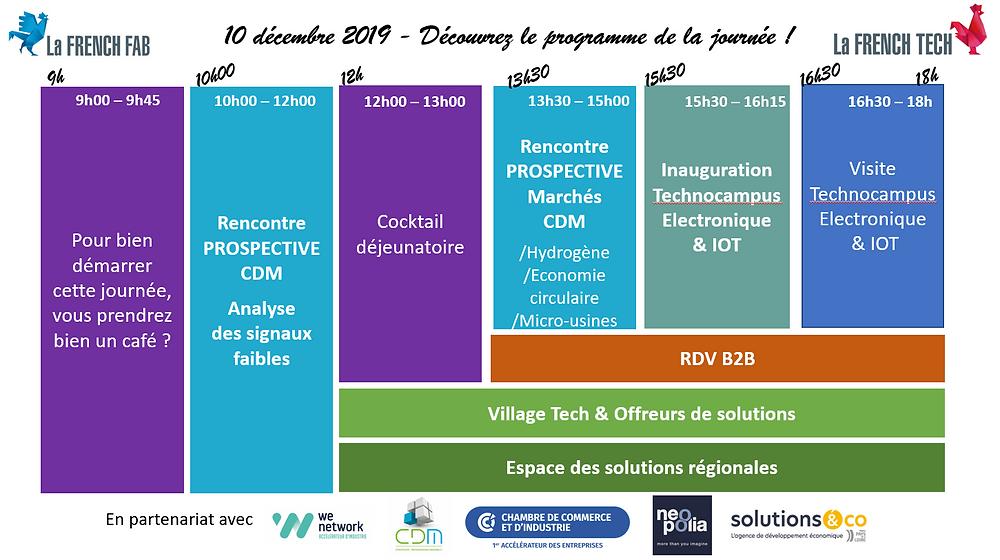 Vous êtes industriels en Pays de la Loire, cette journée est pour vous ! au programme : La Rencontre Prospective du CDM, des RDV business, un Village Tech & des Offreurs de solutions et un espace pour découvrir les solutions régionales et pour ponctuer  le tout, l'inauguration du Technocampus Electronique et IOT