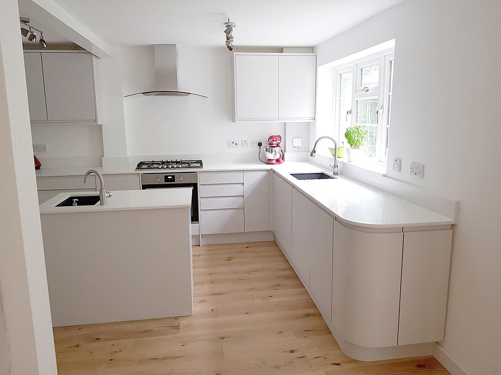 renovated kitchen with white cabinets and countertops, contemporary style.jpg