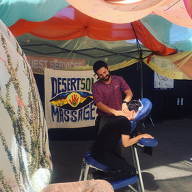 Gabriel at work during the Sun City Yoga Fest!