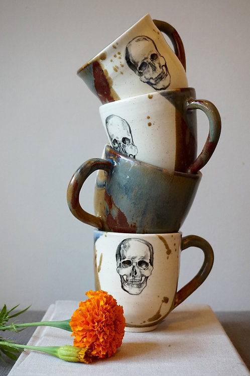Earthy Skull Mugs (set of two)