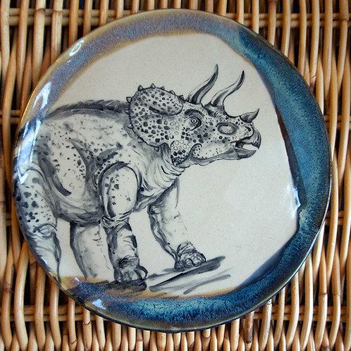 Handpainted Dino Tri-Ceramic Plate