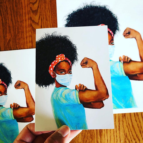 """""""Show Up"""" Rosie Notecards (set of 5)"""