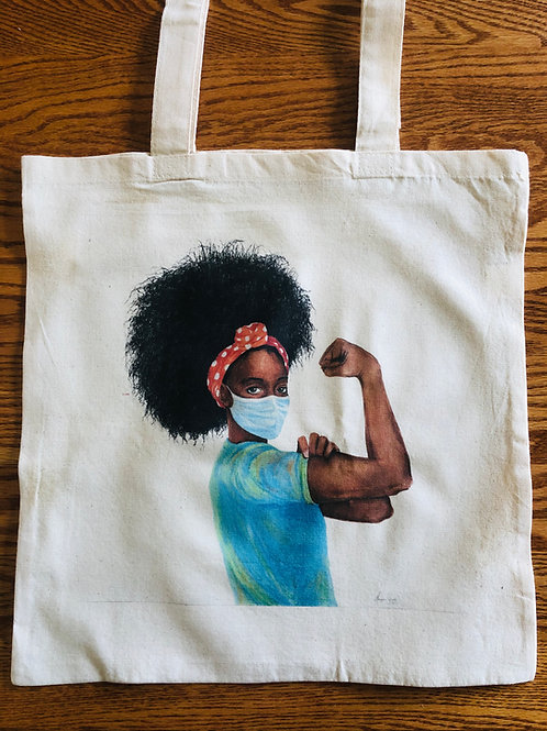 """Show Up"" Rosie Tote (no text)"