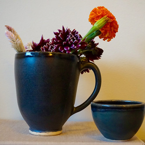 Oversized Midnight Mug and Sugar Bowl