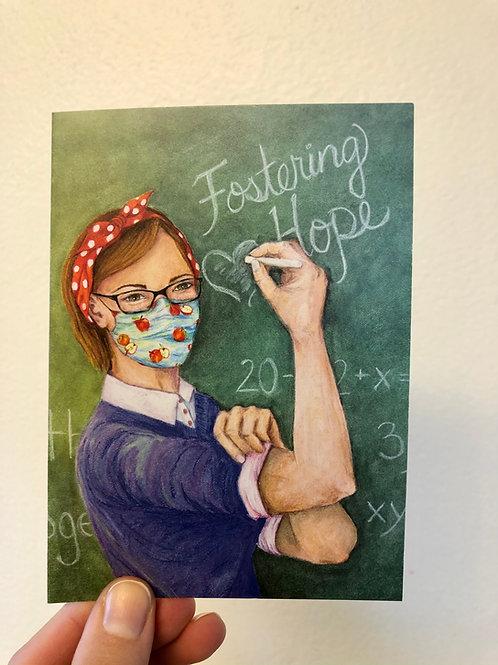 """Fostering Hope"" Teacher Notecards (set of 5)"