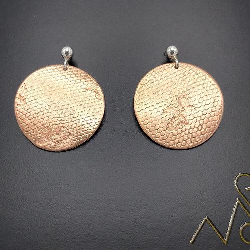 Boucles d'oreilles Cuivre Rondes pendantes petites