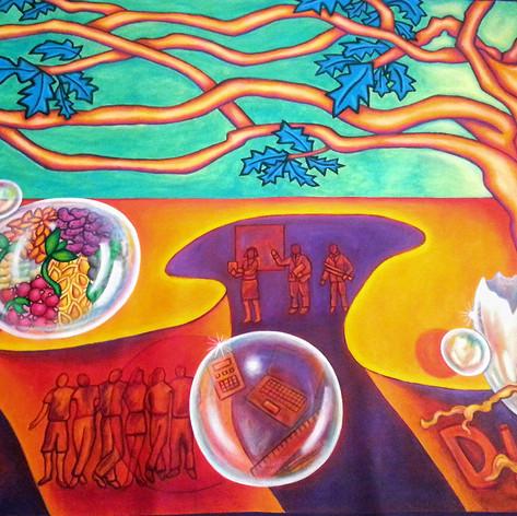 Educational Empowerment Mural         6' x 20'