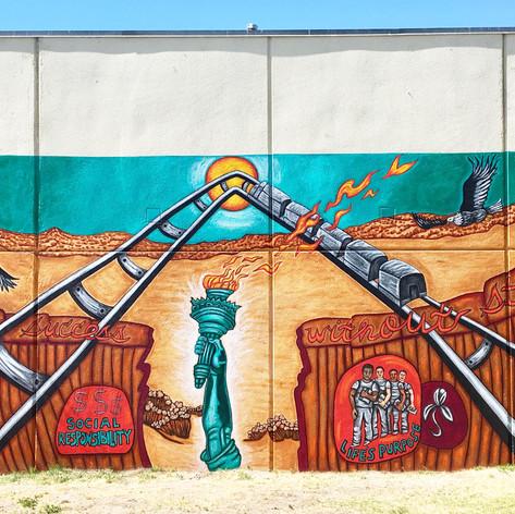 Enrique's Journey Immigration Mural  12' x 30'