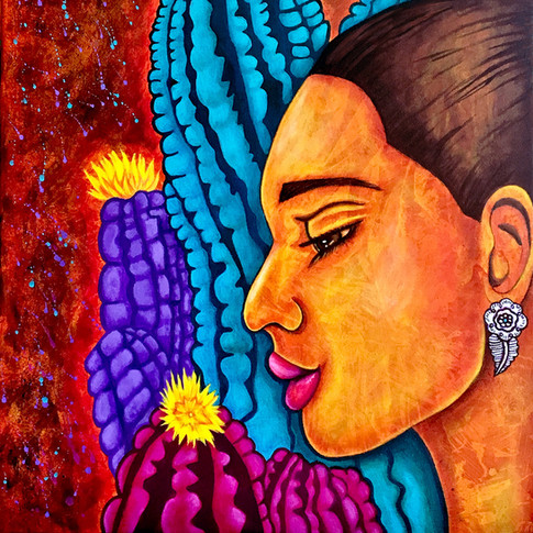 Mujer con Saguaro