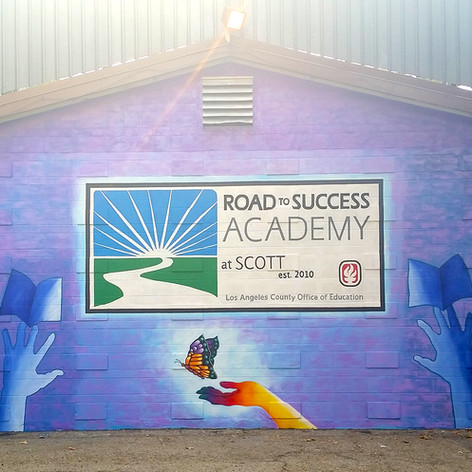 Road To Success Academy Mural  12' x 20'