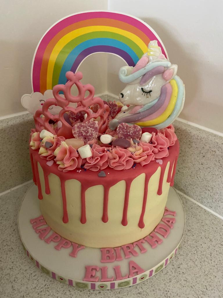 Unicorn Drippy Cake