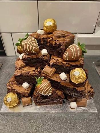 Brownie stack.