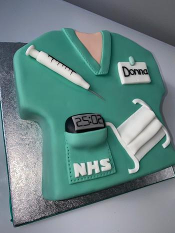 NHS 10inch Fondant cake.