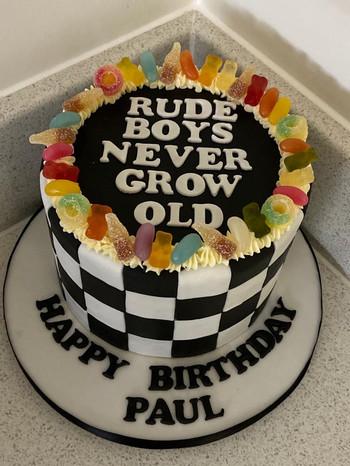 8inch custom sweet  cake.