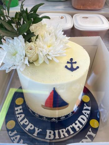 Bespoke 8inch sailors cakes.