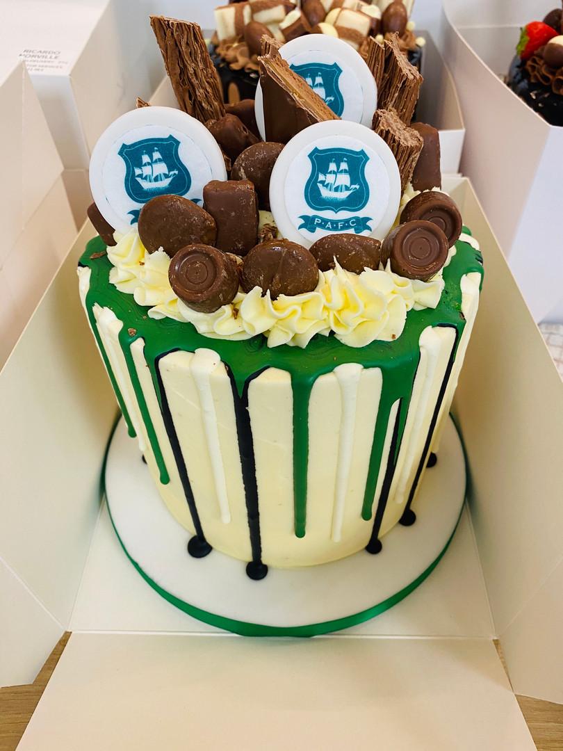 Plymouth Argyle Football Drippy Cake