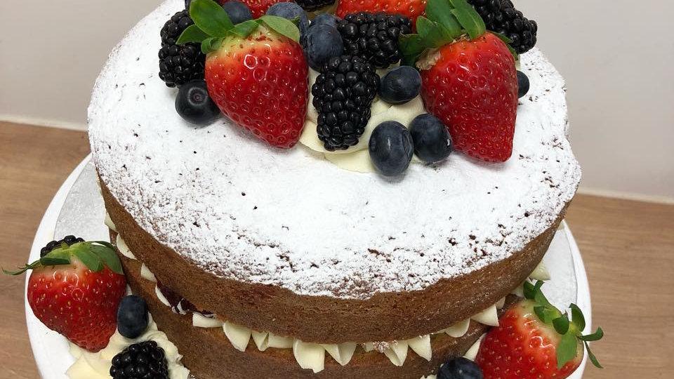 10Inch Victoria Sponge Cake.