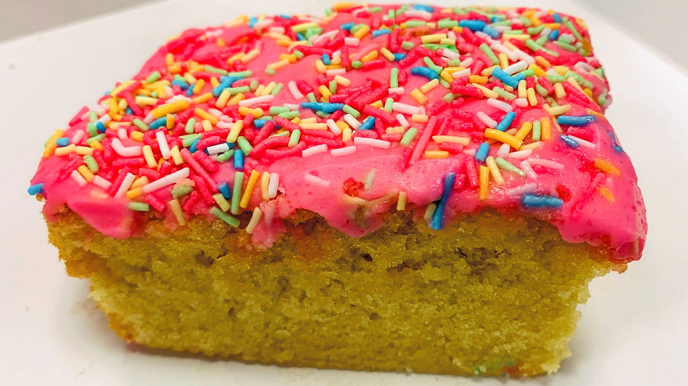 Pink School Sponge TrayBake 9x9 Inch