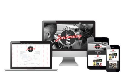 Lakeside Barbershop   Web Design