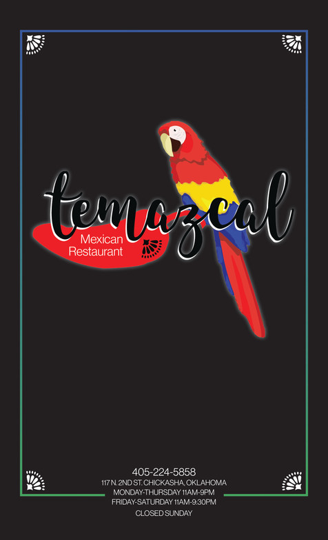 Temazcal Menu Spread | Cover